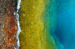 Геотермический ландшафт в национальном парке Йеллоустона Стоковое фото RF