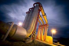 Геотермический завод Стоковые Фотографии RF