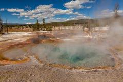 Геотермический национальный парк Йеллоустона горячих источников Стоковые Фото
