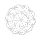 Геодезическая решетка сетки геометрия священнейшая Стоковая Фотография