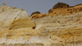 Геология песчаника Rockface Стоковые Изображения RF