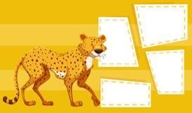 Гепард на желтом шаблоне иллюстрация вектора