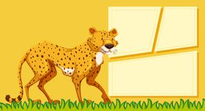 Гепард на пустом примечании иллюстрация штока