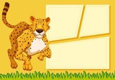 Гепард на шаблоне примечания иллюстрация штока