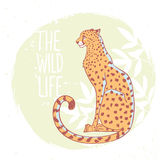 Гепард в цвете иллюстрация вектора
