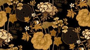 Гераниум цветка флористическая картина безшовная бесплатная иллюстрация