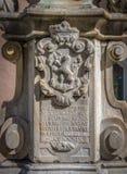 Герб выгравированный на камне гранита Стоковая Фотография RF