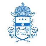 Герб гребней вектора heraldic королевский Стоковое Фото