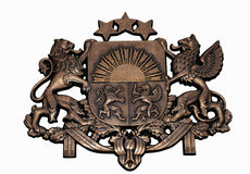 Герб Латвии Стоковое Изображение