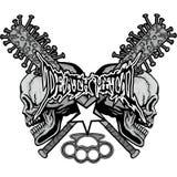герб черепа grunge Стоковая Фотография