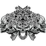 герб черепа grunge Стоковое Изображение RF