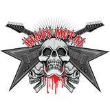 герб черепа grunge Стоковое Изображение