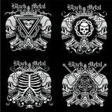 герб черепа grunge Стоковые Изображения