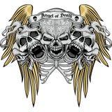 герб черепа grunge Стоковая Фотография RF