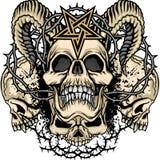 герб черепа grunge Стоковые Изображения RF