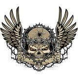 герб черепа grunge Стоковое Фото