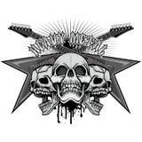 герб черепа grunge Стоковое фото RF