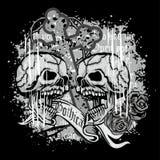 герб черепа grunge Стоковые Фото