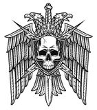 Герб экрана черепа гребня орла Стоковое Изображение