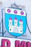 Герб Nowy Dwor Gdanski Стоковое Изображение RF