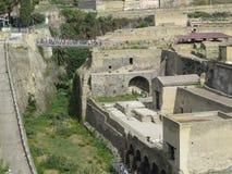 Геркуланум или Ercolano старый римский городок Италия Стоковая Фотография RF