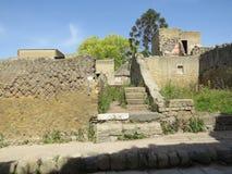 Геркуланум или Ercolano старый римский городок Италия Стоковое Изображение