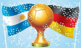 Германия Аргентина иллюстрация штока