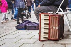 Германия, город Lahr 28-ое октября 2015, бренда Hohne аккордеона Стоковая Фотография RF