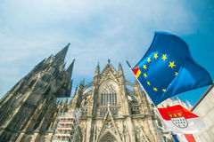 Германия и европейский флаг Стоковые Фото