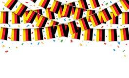 Германия сигнализирует предпосылку гирлянды белую с confetti иллюстрация вектора
