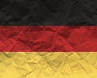 Германия скомкала флаг текстурированный бумагой - Стоковое Изображение