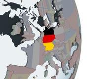 Германия с флагом на глобусе бесплатная иллюстрация