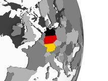 Германия с флагом на глобусе иллюстрация вектора