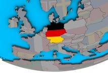 Германия с флагом на глобусе иллюстрация штока