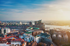Германия hamburg вид с воздуха Стоковая Фотография