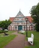 Германия, Jork, здание муниципалитет стоковое изображение