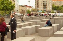 Германи-Берлин, май 2016 Мемориал для убитых евреев евро Стоковые Фото