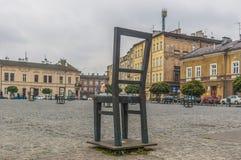 Герои гетто придают квадратную форму в Краков, Польше стоковые фотографии rf