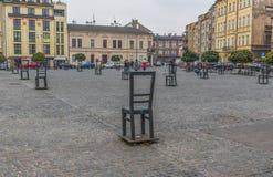 Герои гетто придают квадратную форму в Краков, Польше стоковые фото