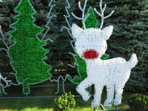 Герои рождества вычисляют состав северного оленя и снеговика над g стоковые изображения