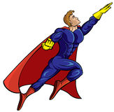 герой летания супер Стоковая Фотография
