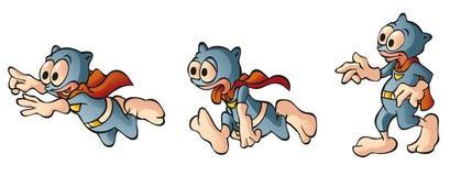 герой персонажа из мультфильма милый супер Стоковая Фотография RF