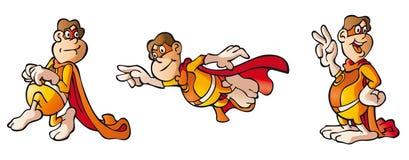 герой персонажа из мультфильма милый супер Иллюстрация вектора