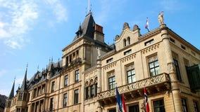 Герцогский дворец в Люксембурге сток-видео