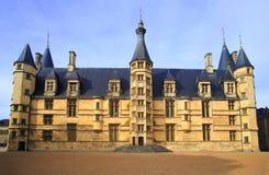 Герцогский дворец в Невер стоковое изображение rf