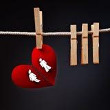 Гетеросексуальные пары ломая отделенное, схематическое изображение влюбленности Стоковое Изображение RF