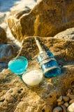 Гель ливня и соли для принятия ванны Стоковые Фото