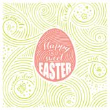 гиацинты зеленого цвета карточки предпосылки выходят лилиям долина весны Литерность - счастливая сладостная пасха Дизайн пасхи Ру бесплатная иллюстрация