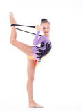 гибкий гимнаст девушки Стоковые Фото