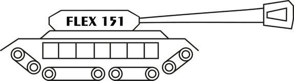 Гибкий трубопровод 151 боевого танка стоковое изображение rf
